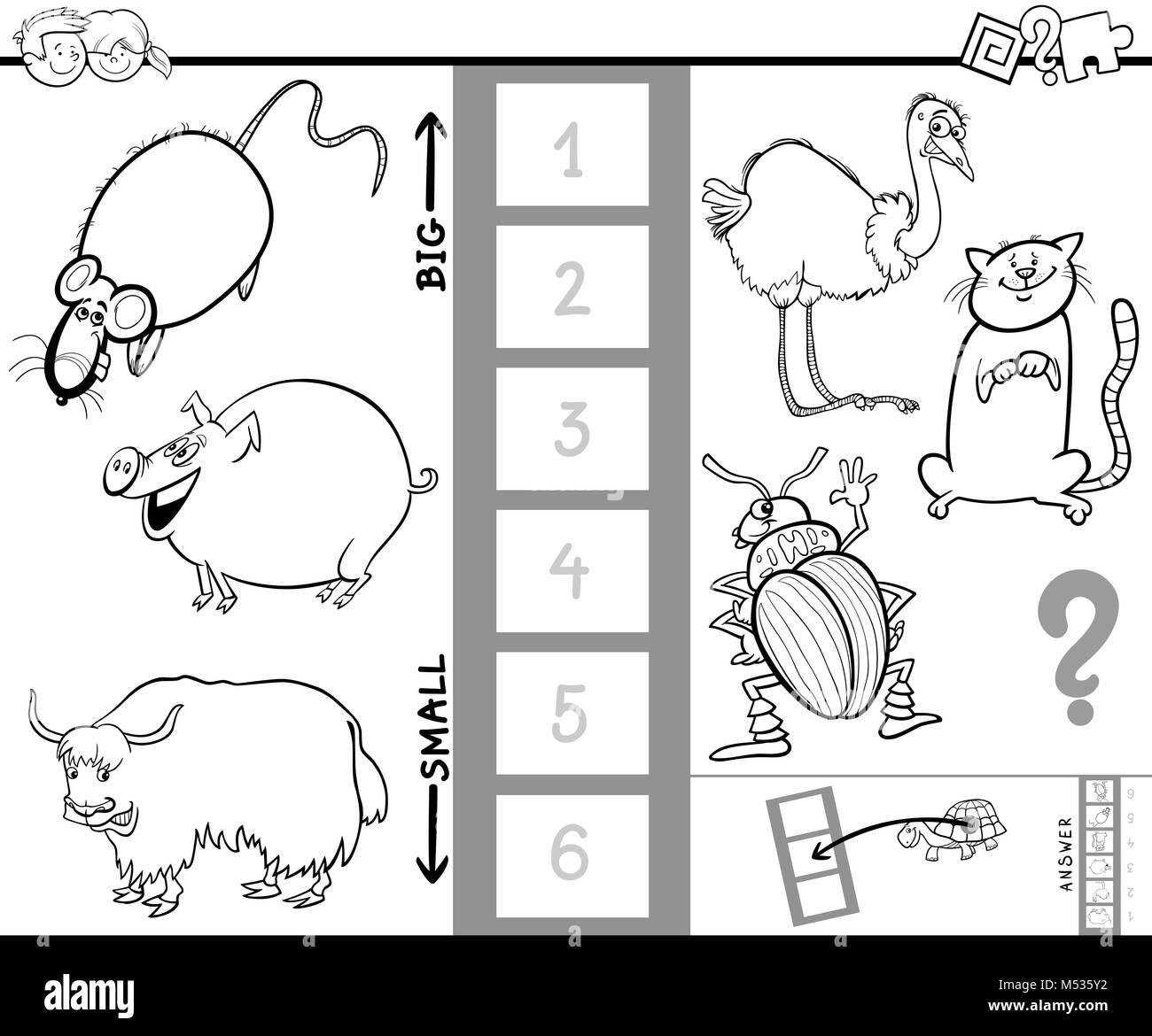 Find Biggest Animal Color Book Game