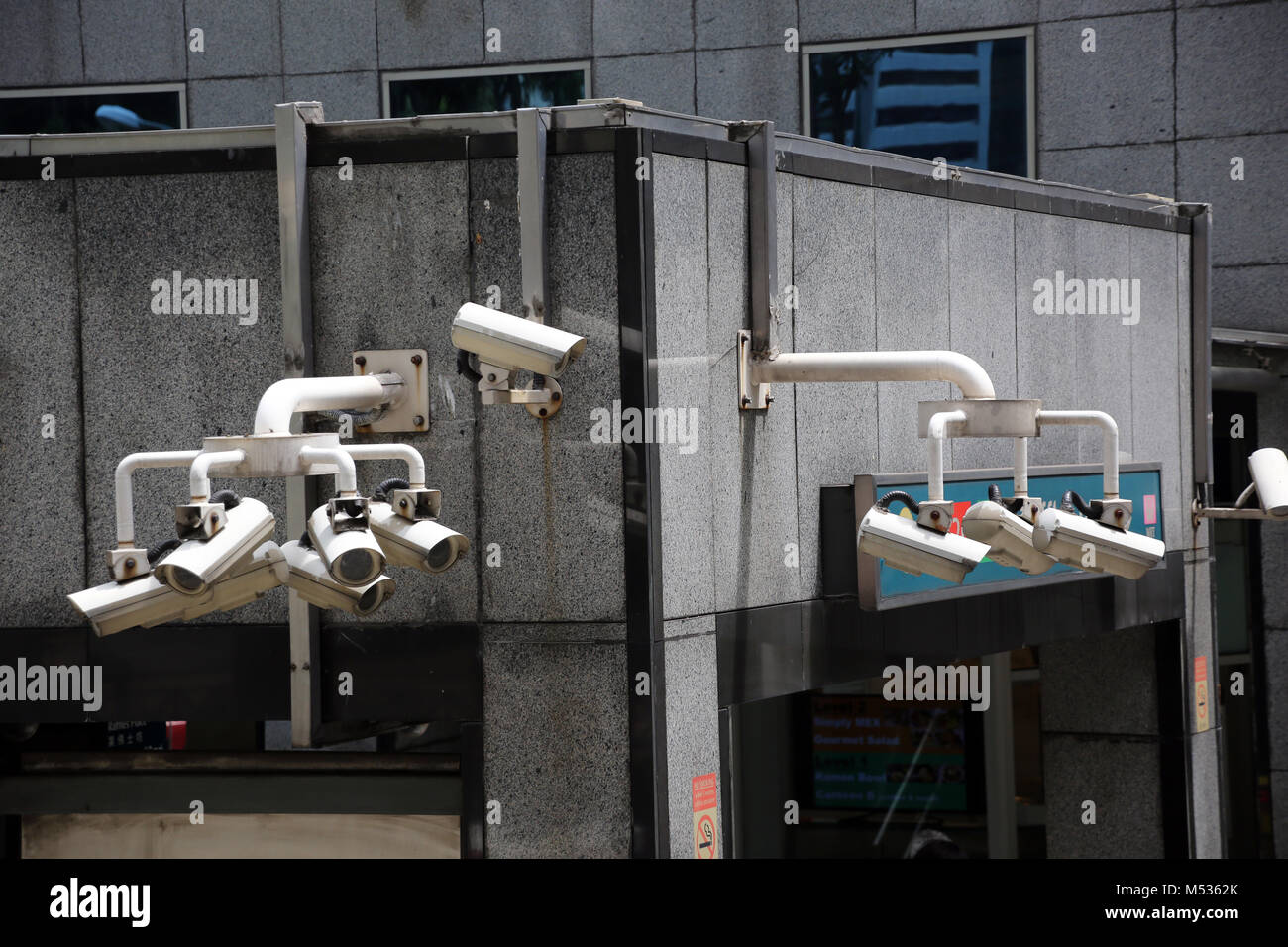 Symbol image Video surveillance in the public space - Stock Image
