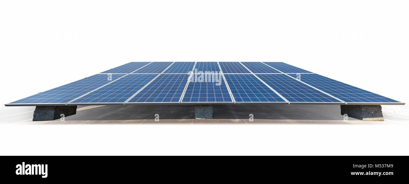 solar energy panels isolated - Stock Image
