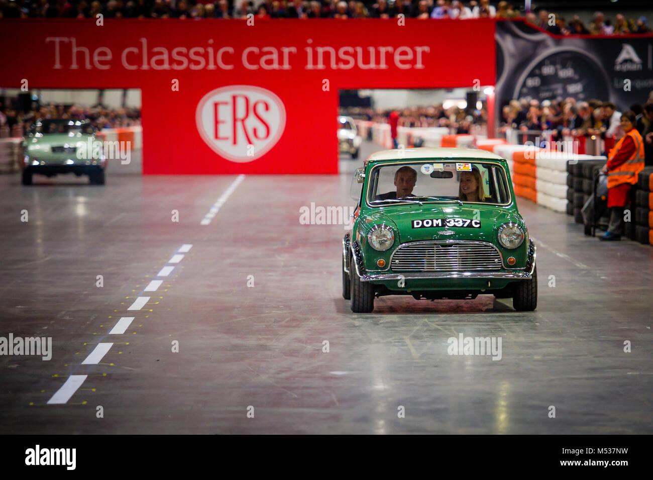 The Twini - a special twin engined Mini Cooper S at The London Classic Car Show & Historic Motorsport International - Stock Image