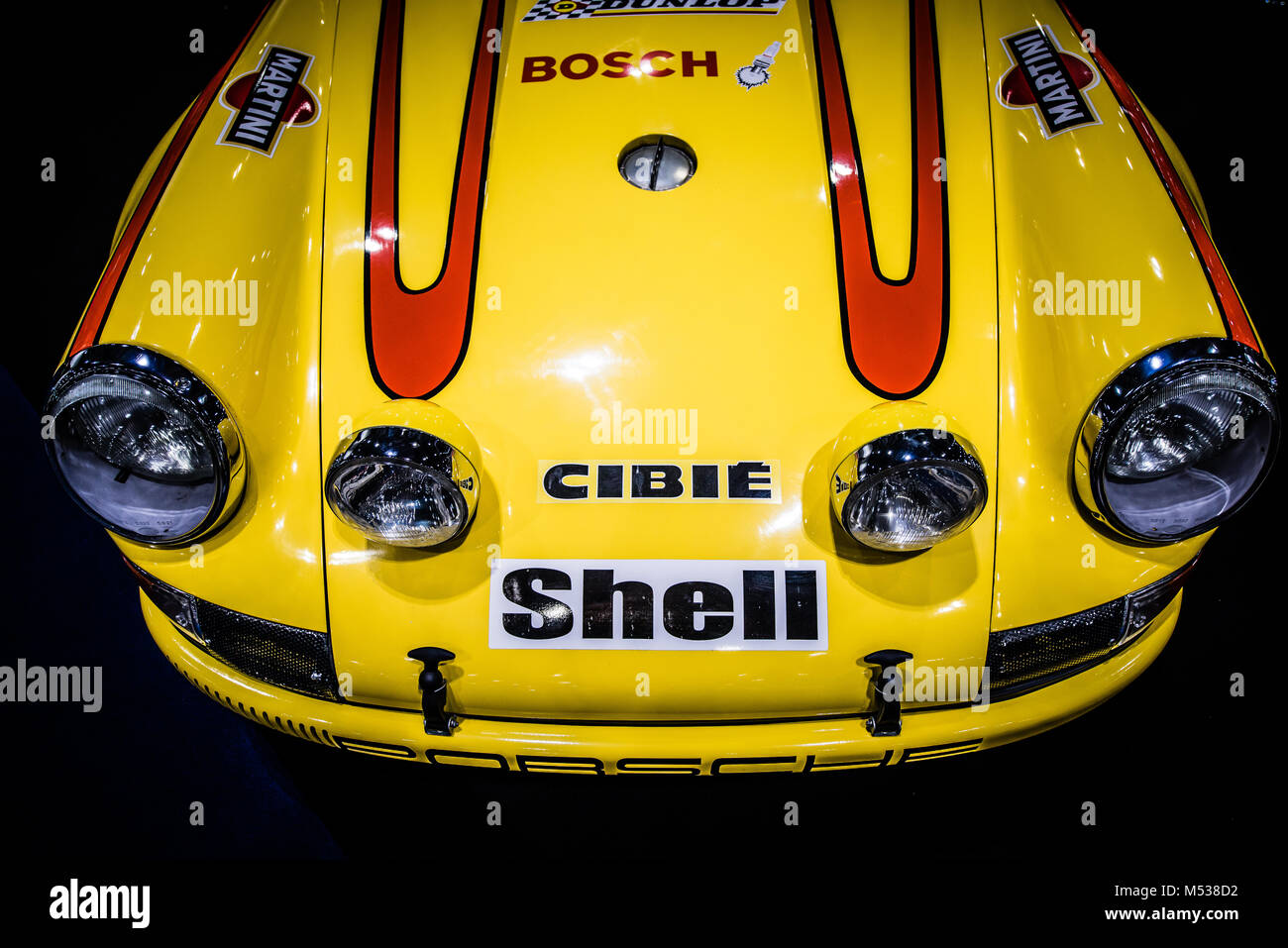 Historic Racing Porsche 911 on display at The London Classic Car Show & Historic Motorsport International Show - Stock Image