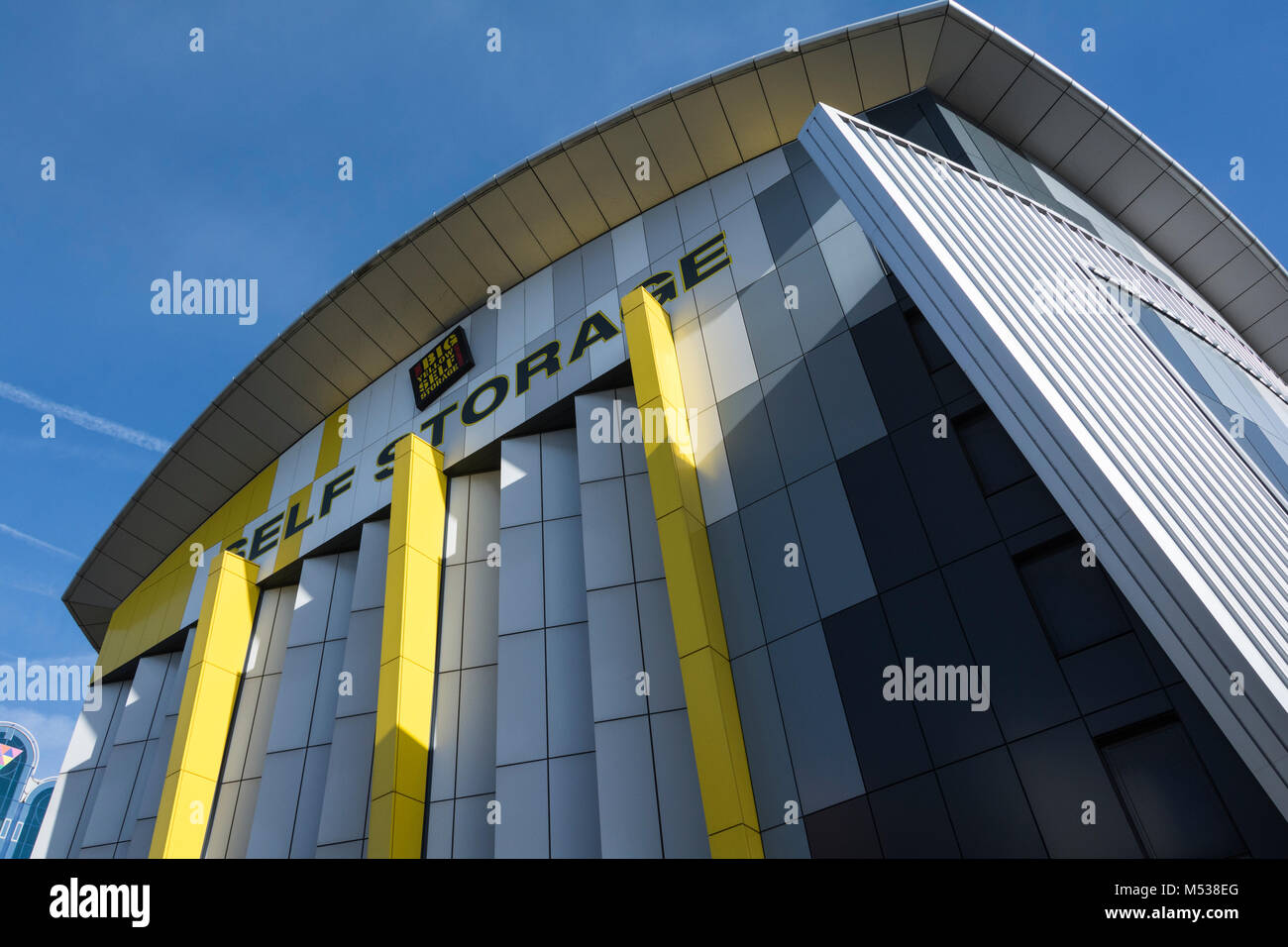 Big Yellow Self Storage warehouse facility in Brentford, west London, UK - Stock Image