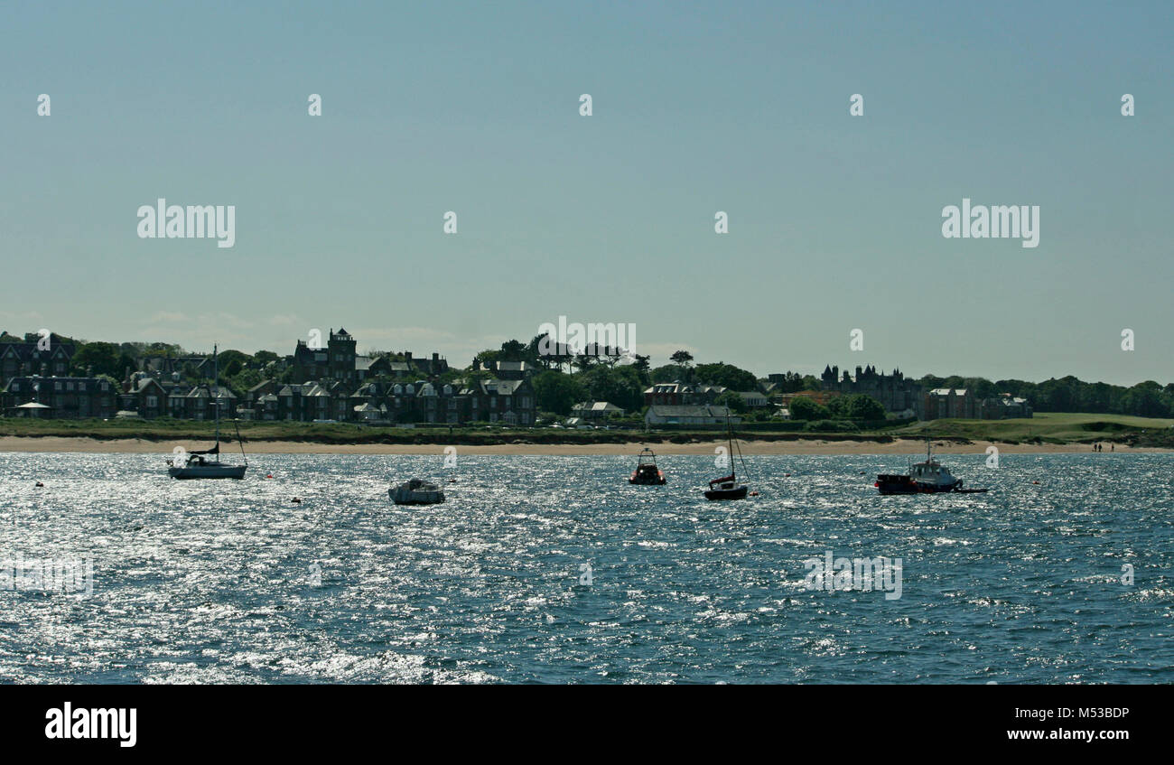 Boaters on North Sea, North Berwick, Scotland, - Stock Image