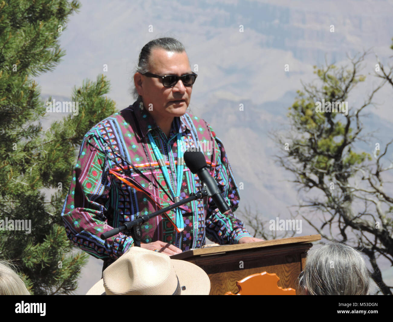 DV Rededication May. Desert View Rededication - May 22, 2016  Ed Hall, Transportation Specialist/Tourism Coordinator, Stock Photo