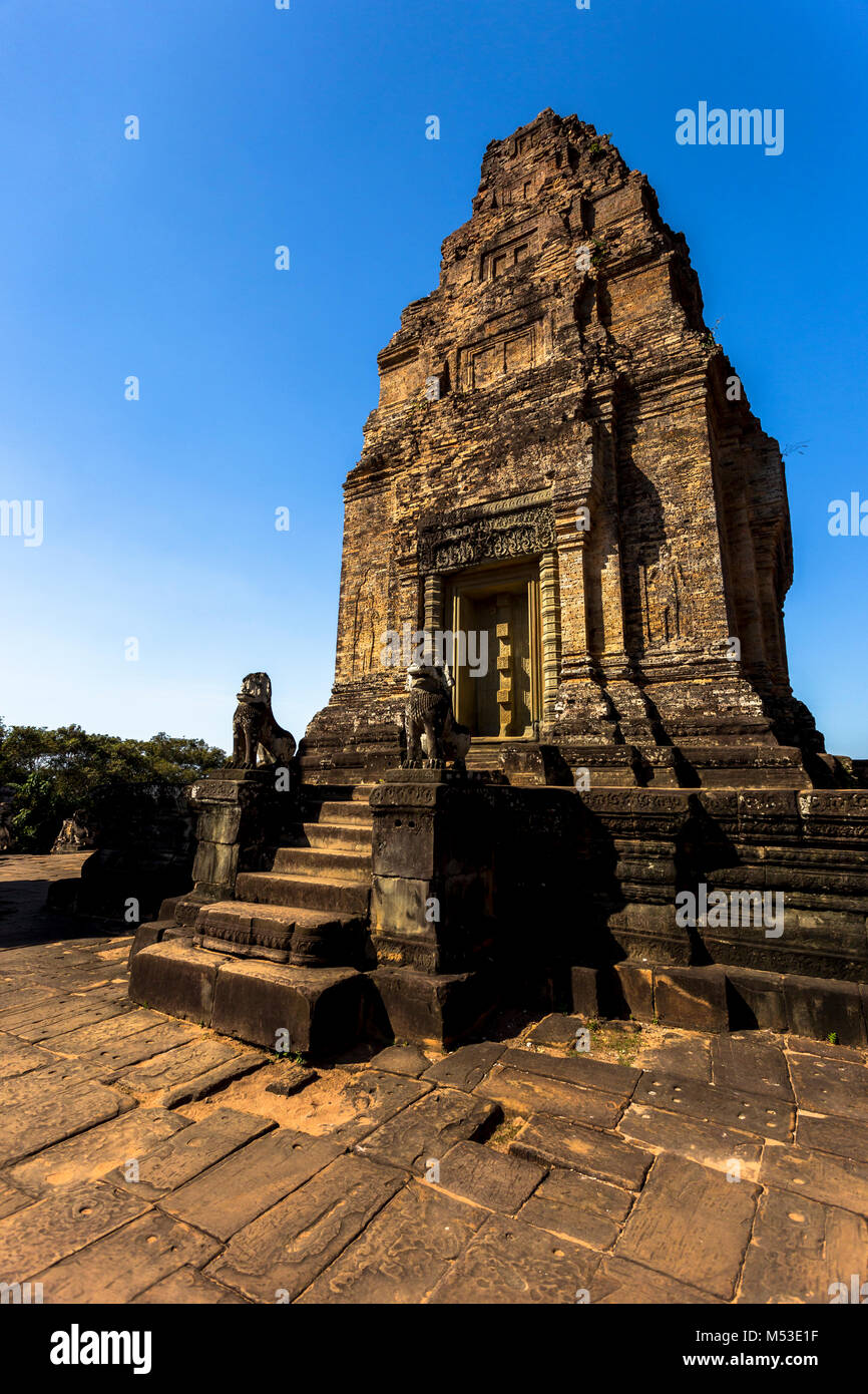 East Mebon Angkor Wat Siem Reap Cambodia South East Asia is a 10th Century temple at Angkor, Cambodia. Built during Stock Photo