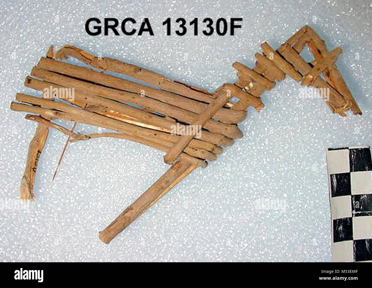 Split-Twig Figurine GRCAFpg. Some of the most facinating artifacts found here in the Grand Canyon are split-twig - Stock Image