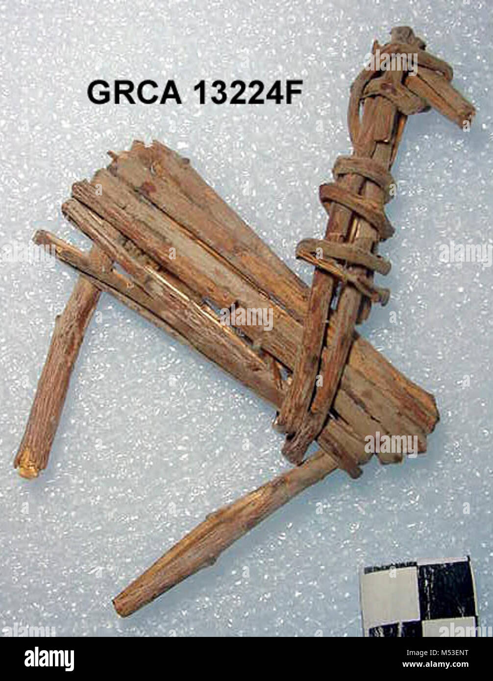 Split-Twig Figurine GRCAg. Some of the most facinating artifacts found here in the Grand Canyon are split-twig figurines. - Stock Image
