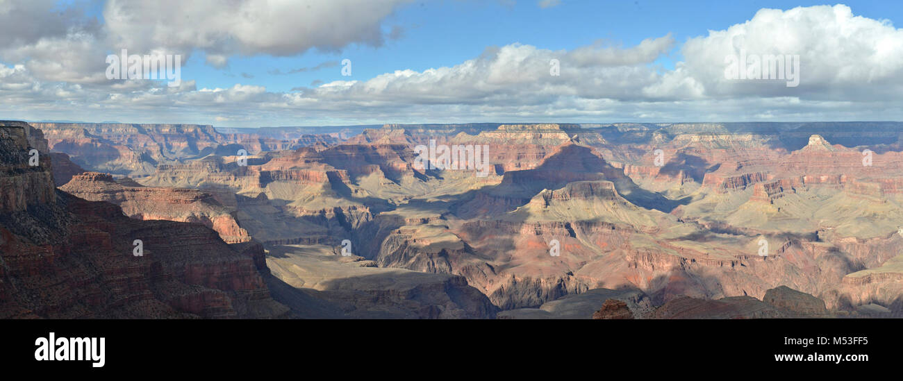 Grand Canyon National Park View from Yaki Point, Christmas Day. Photo was taken at 1:00 p.m.  Thinking about a winter - Stock Image