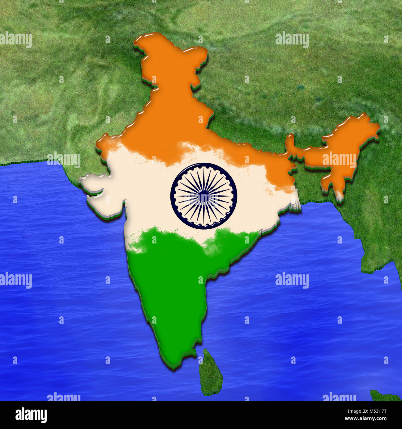 colour picture of indian map India Map High Resolution Stock Photography And Images Alamy colour picture of indian map