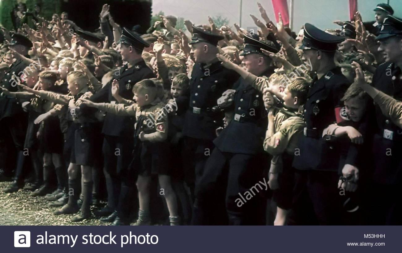 Nazi parade in Germany - Stock Image