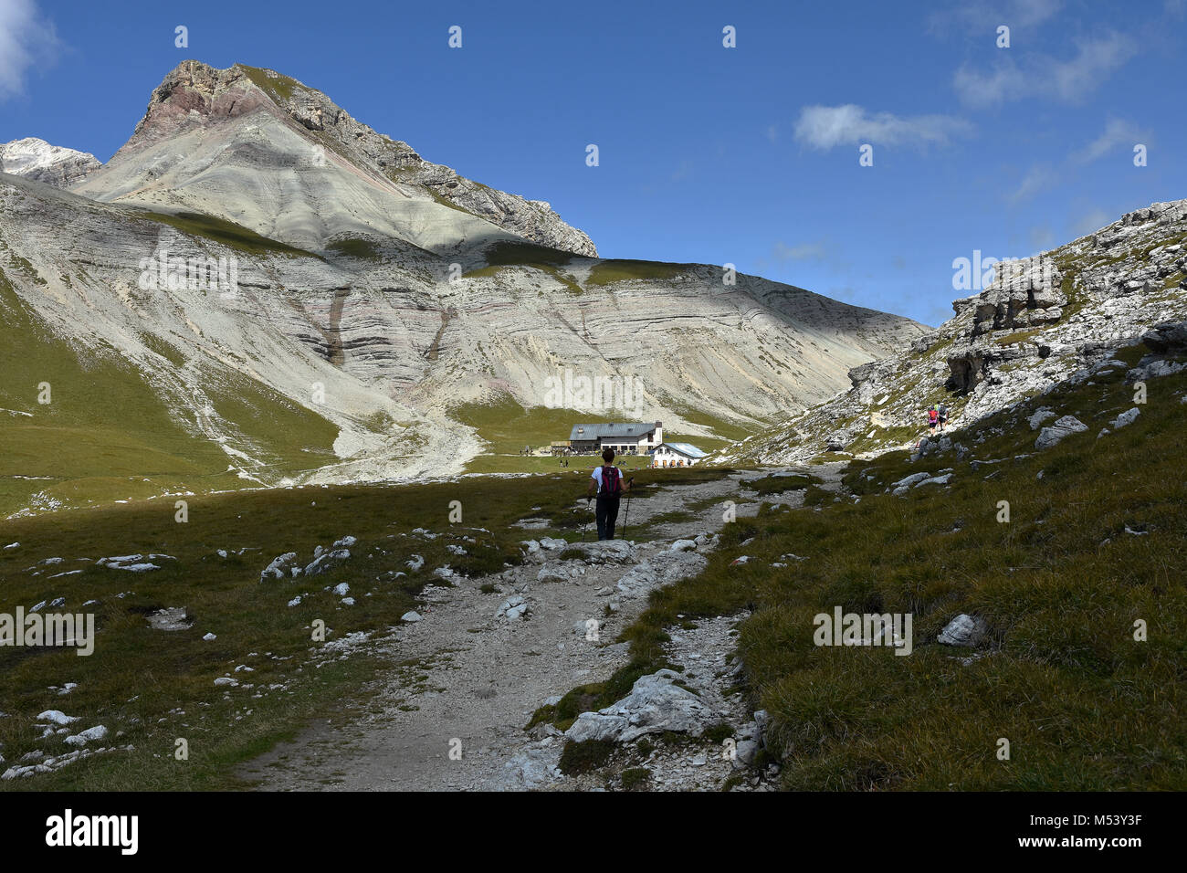 Dolomite Alps; South Tyrol; Italy; Puezgroup; - Stock Image