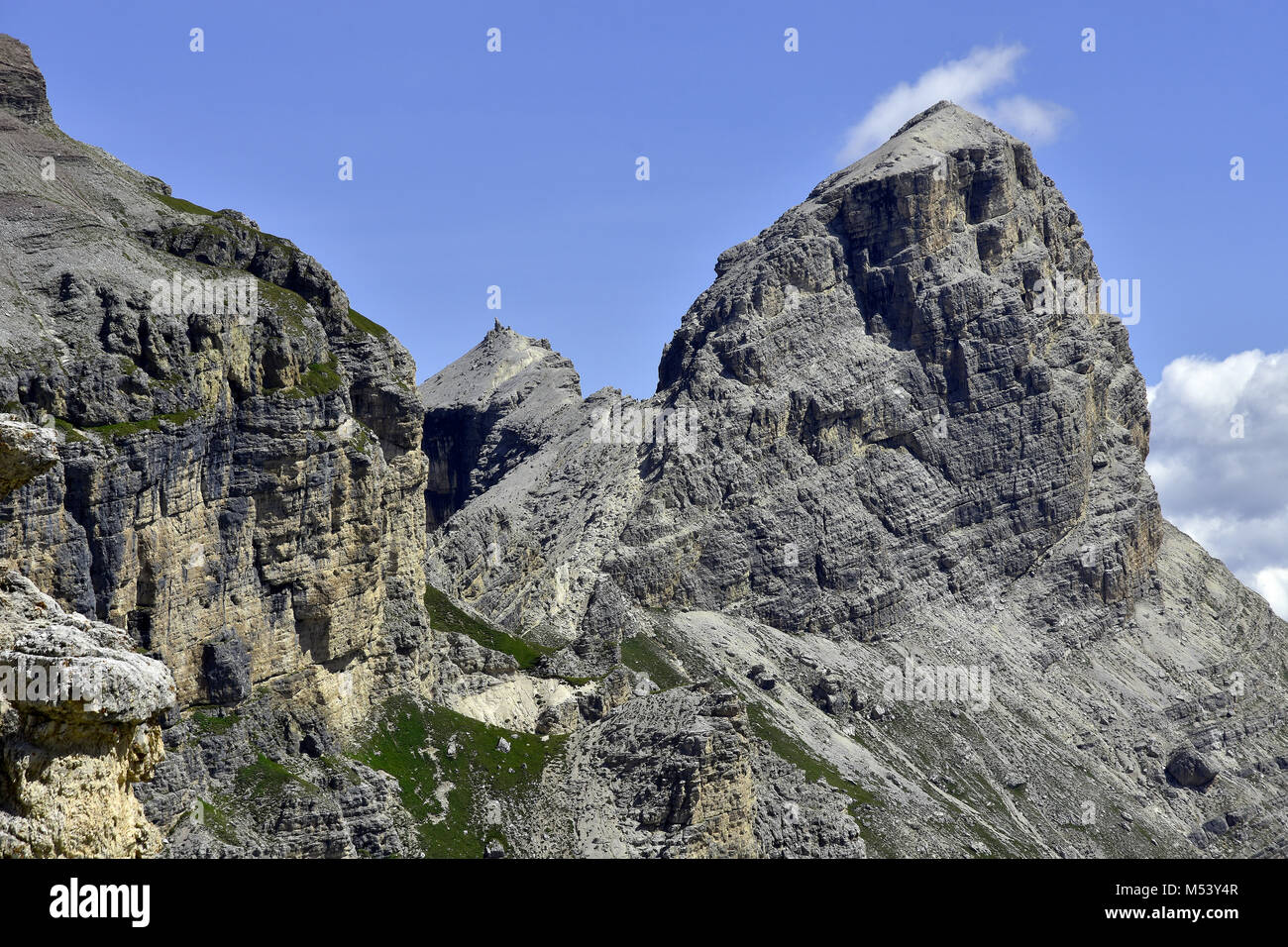 Dolomite Alps; South Tyrol; Italy; Sassongher; Puezgroup; - Stock Image