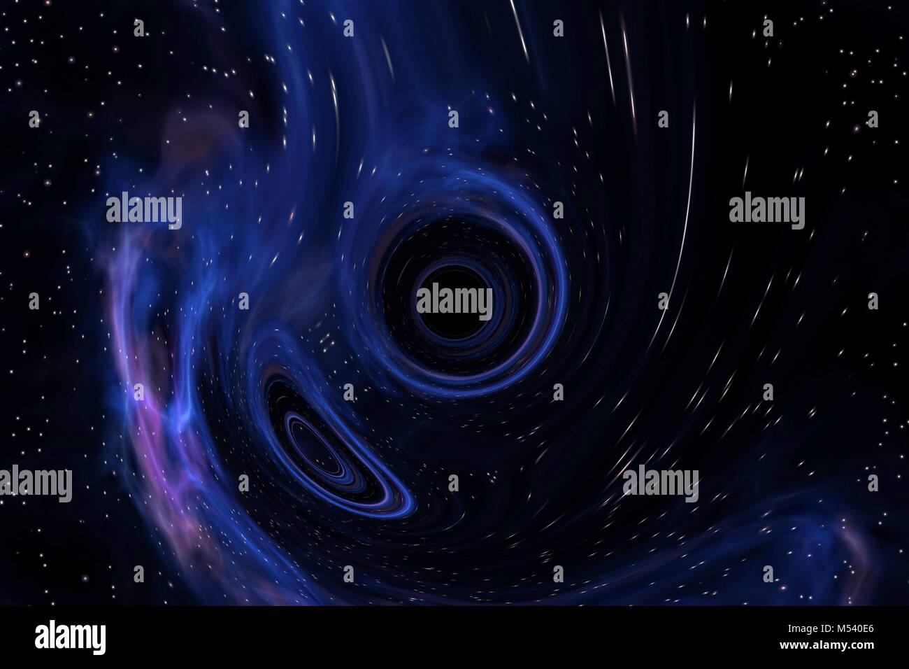 black hole anomaly - Stock Image