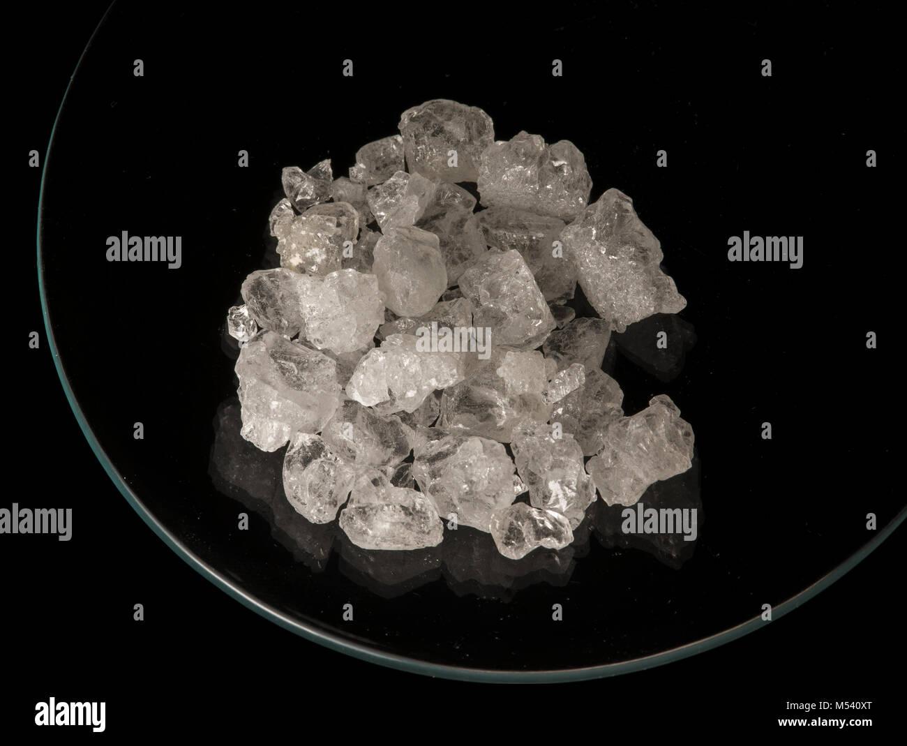 Ammonium alum (ammonium aluminium sulfate) crystals. - Stock Image