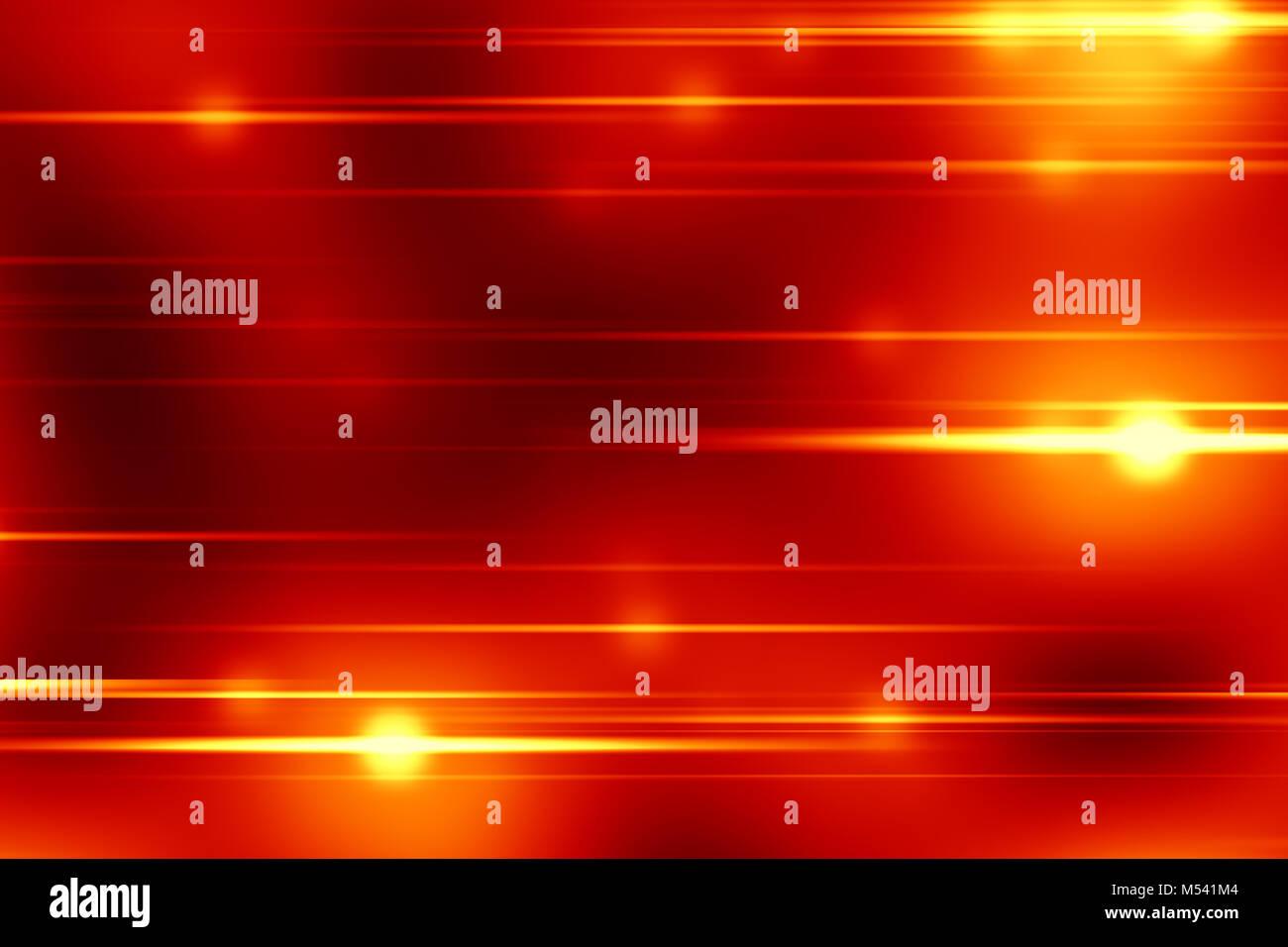 Red Christmas Light Streaks Background Stock Photo
