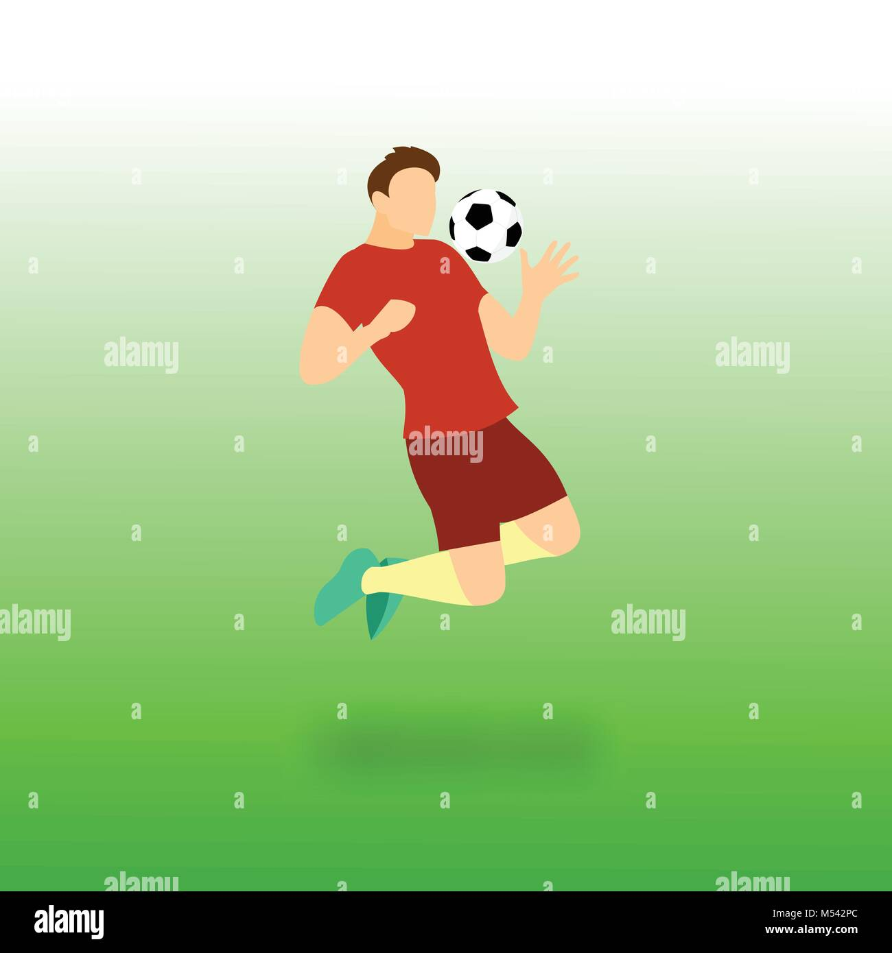 Chest Control Football Player Vector Illustration Graphic Design - Stock Vector