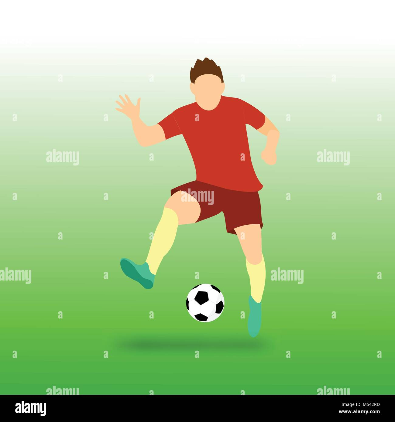 Freestyle Football Soccer Player Vector Illustration Graphic Design - Stock Vector