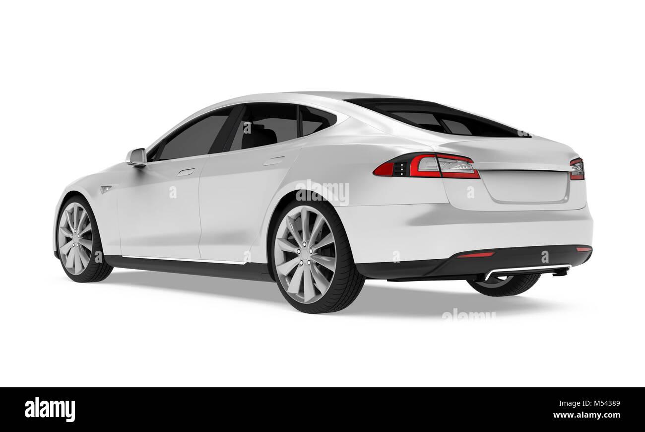 Luxury Sedan Car Isolated - Stock Image
