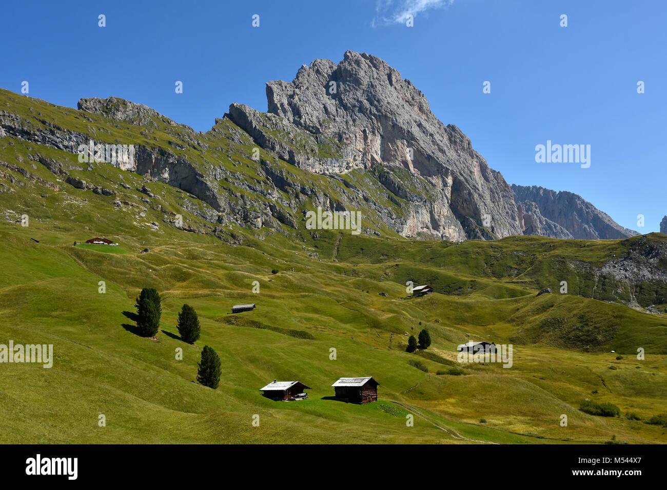 Dolomite alps; South Tyrol; Italy; natural preserve puez-geisler; Stock Photo