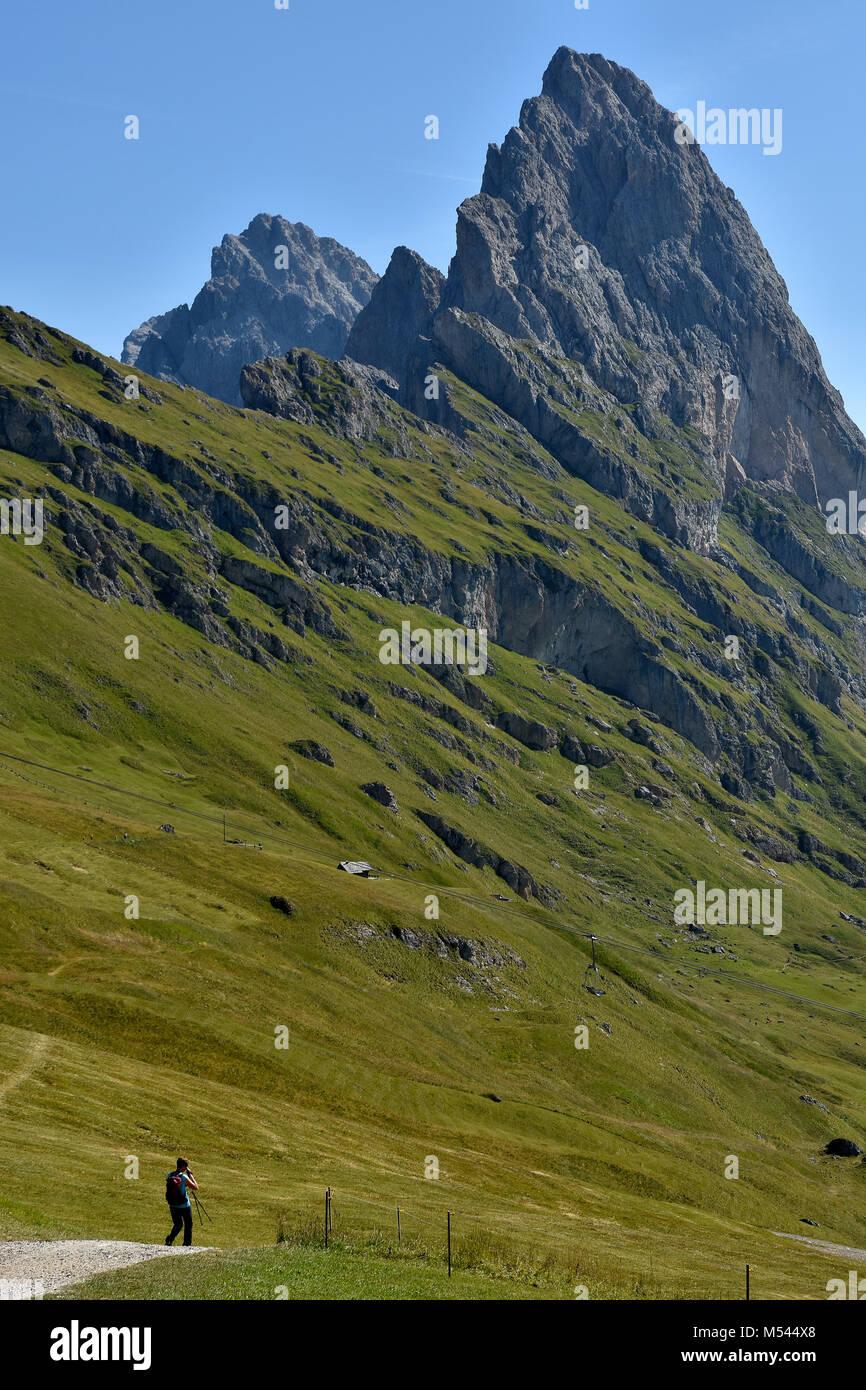 Dolomite alps; South Tyrol; Italy; natural preserve puez-geisler; Fermeda Stock Photo