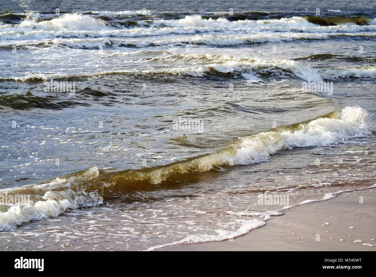 Gentle surf - Stock Image