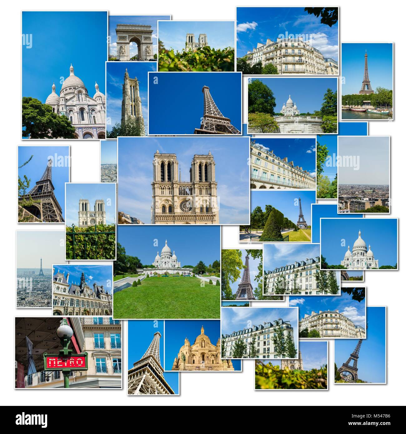 Collage of paris photos collection - Stock Image