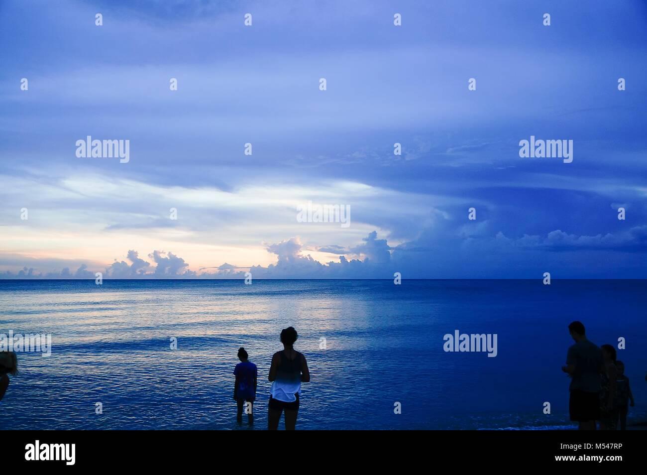 Sanibel Island, Florida - sunset on the beach Stock Photo