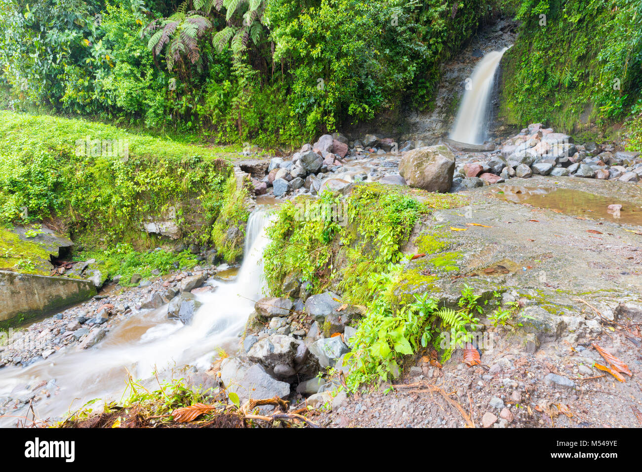 waterfalls rio on the volcan baru trail chiriqui panama - Stock Image