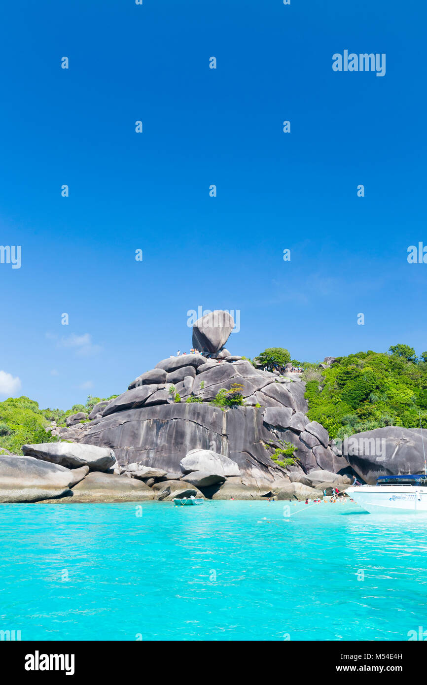 The sail rock on Ko Similan or island Nr. 8, Mu Ko Similan national park, Thailand - Stock Image