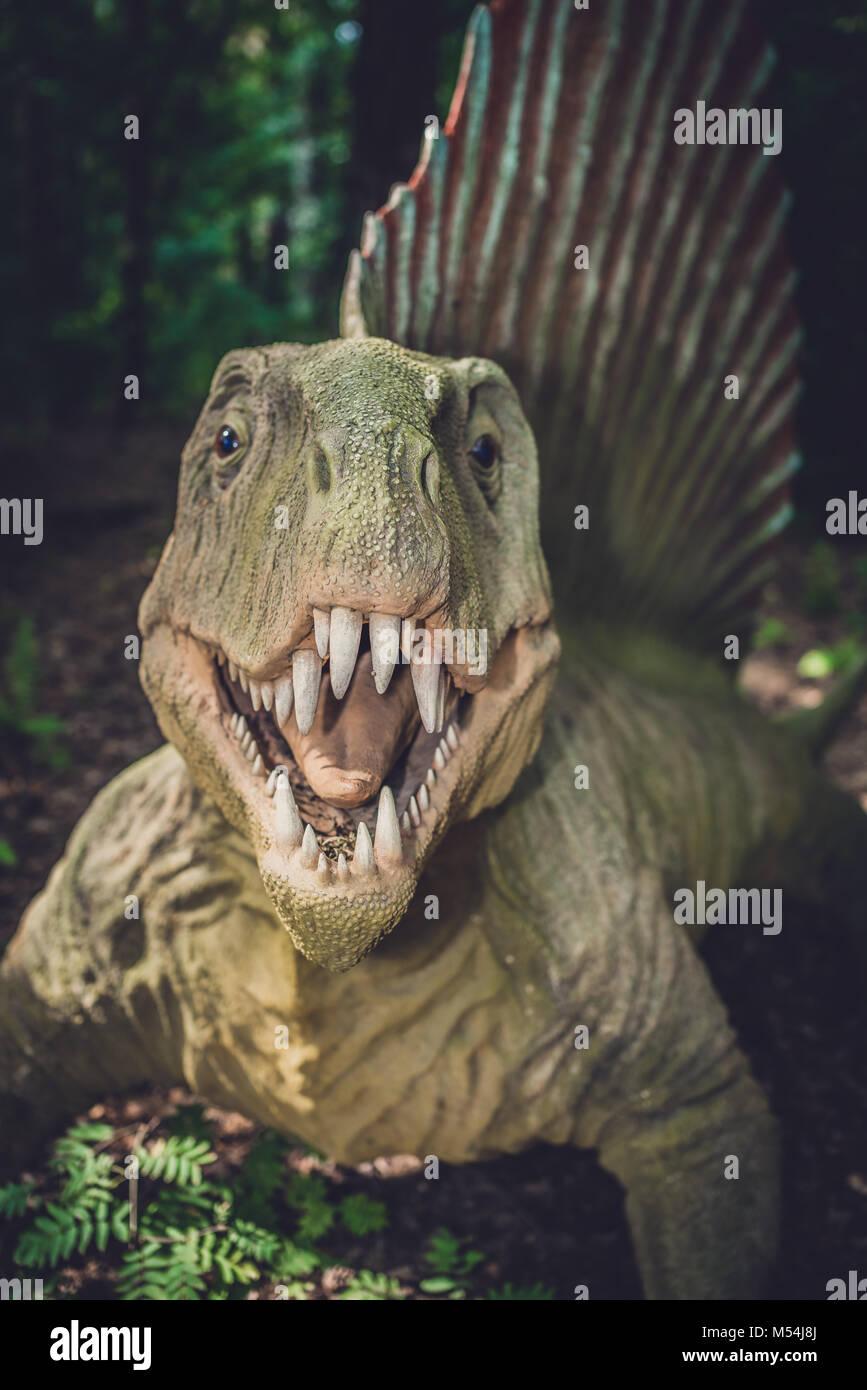 Spinosaurus dinosaur statue Stock Photo