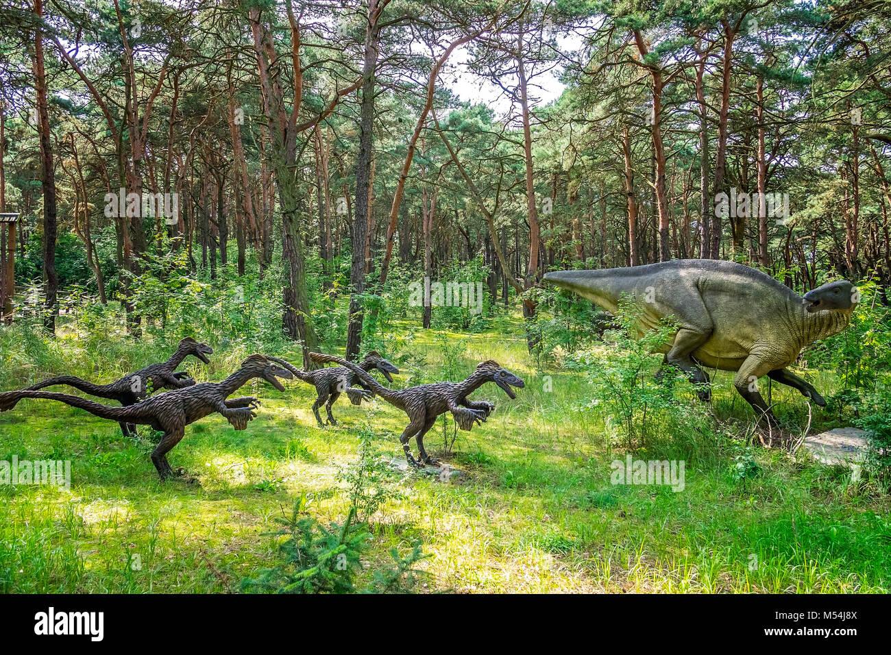 Raptors on a hunt - Stock Image
