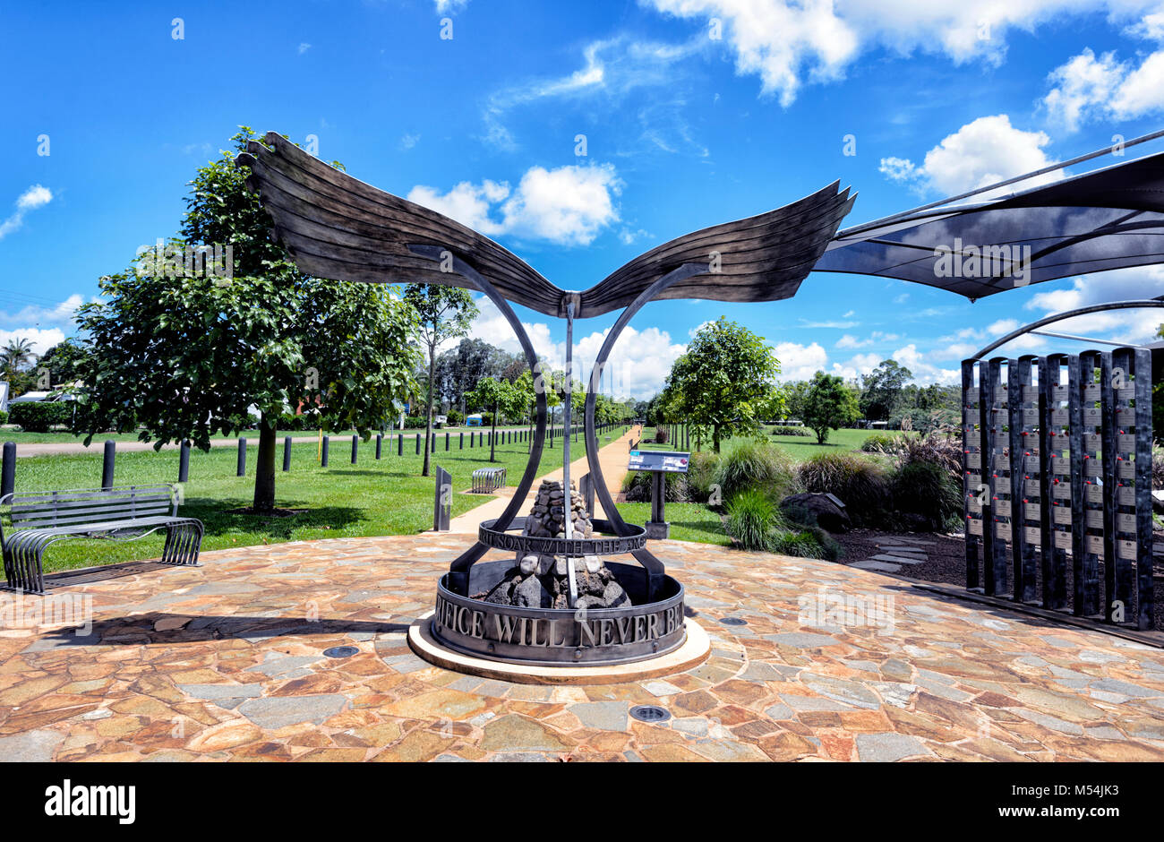 Avenue of Honour is a memorial to the war in Afghanistan, Yungaburra, Atherton Tablelands, Far North Queensland, - Stock Image