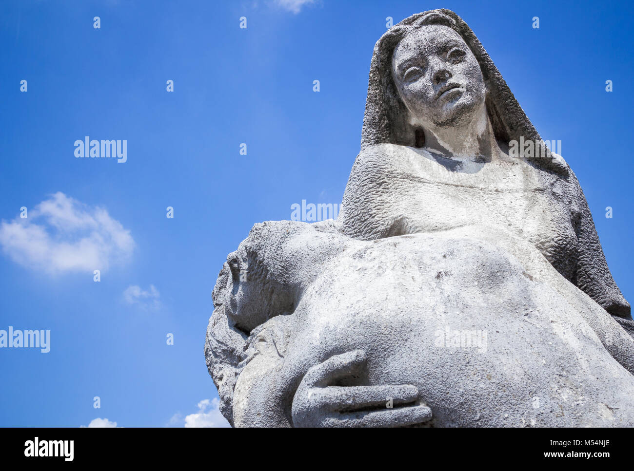 Religious statue representing the Piety - Stock Image