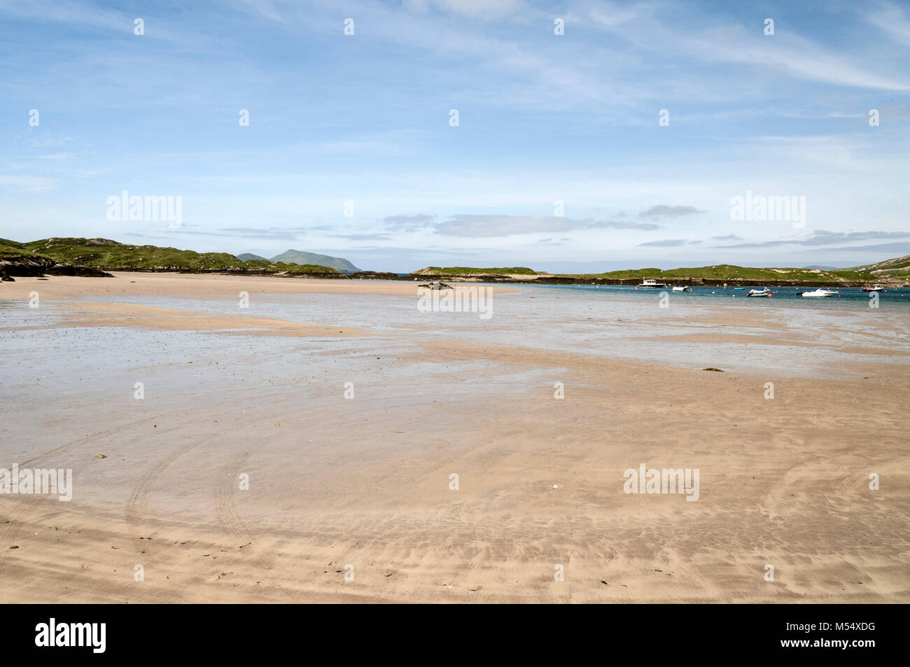 Derrynane beach on the Ring of Kerry in Southern Ireland. - Stock Image