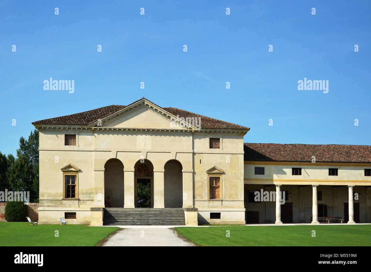Villa Saraceno Designed By Andrea Palladio Architect Italy Stock