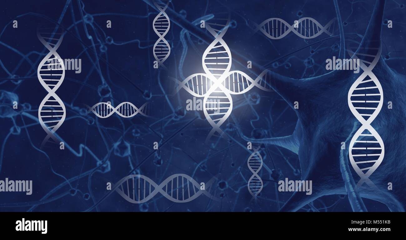genetic science biology interface Stock Photo