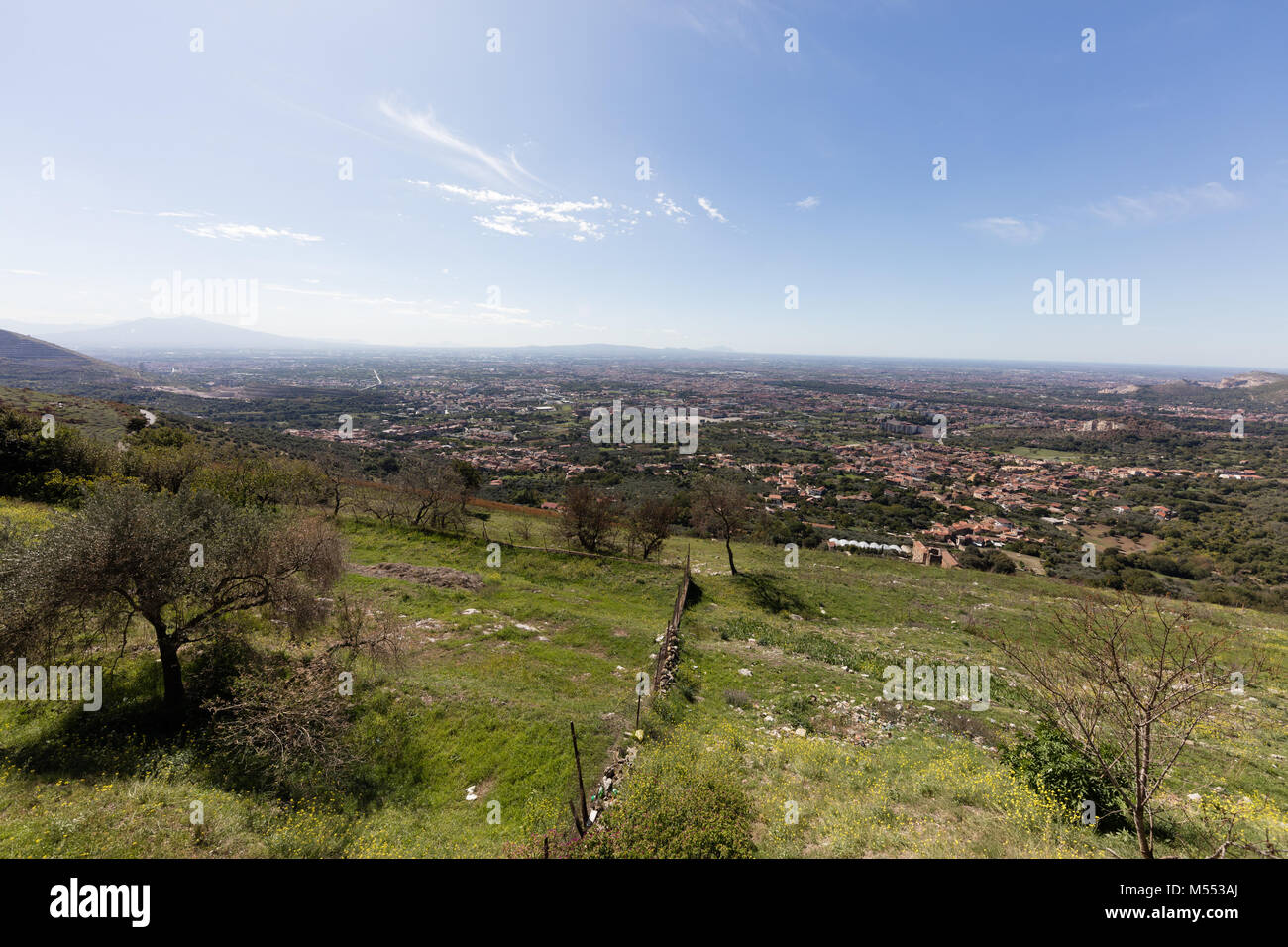 Viiew of Caserta Vecchia Stock Photo