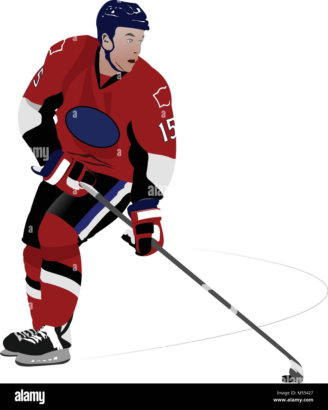 Ice hockey player. Colored Vector illustration for designers - Stock Vector