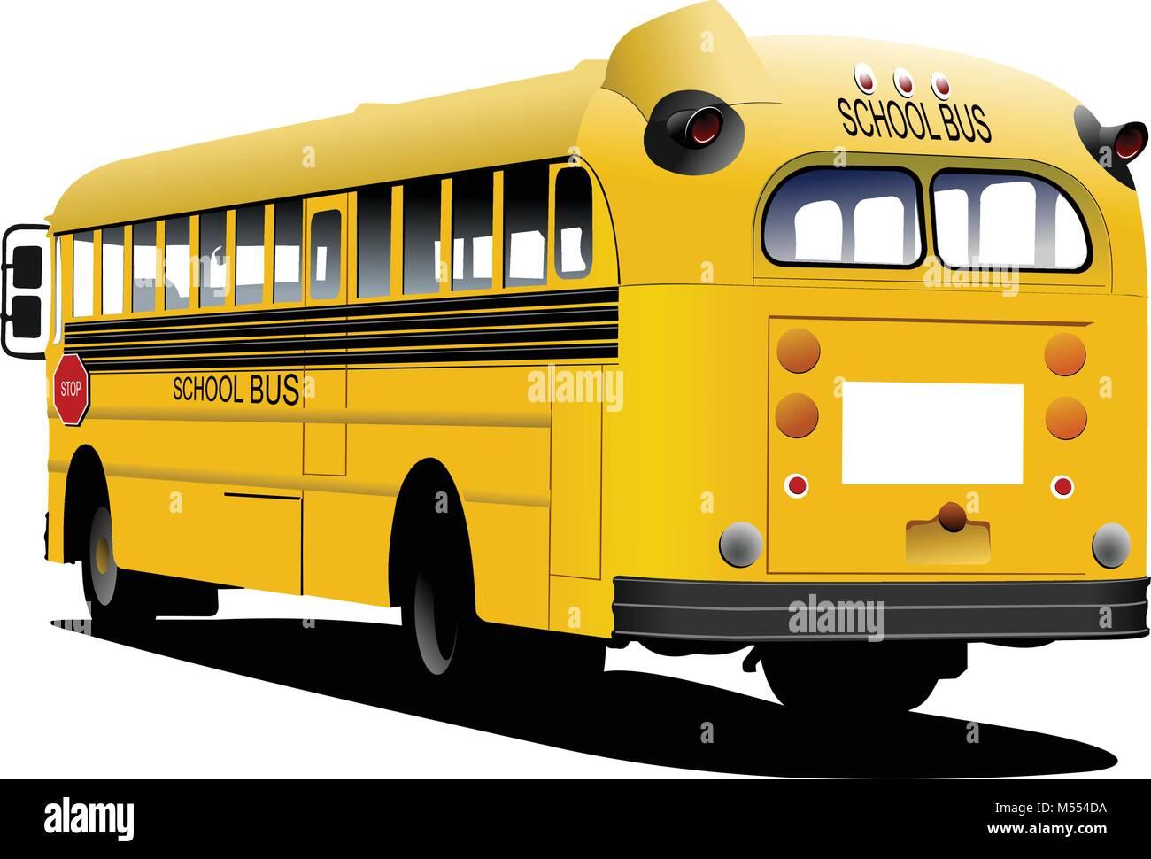 School Bus Vector Profile