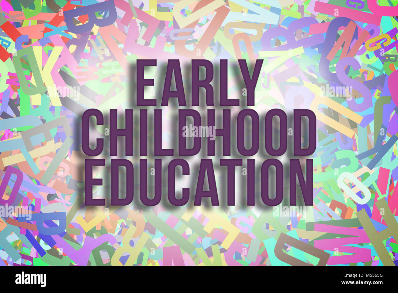 Early Childhood Education Colorful Alphabets Letters From A To Z As Stock Photo Alamy