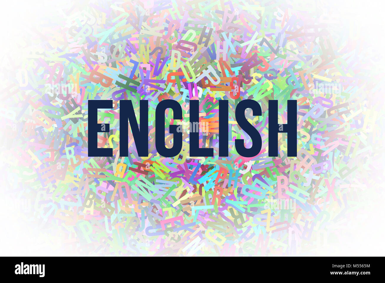 English Colorful Alphabets Letters From A To Z As Background Word Stock Photo Alamy