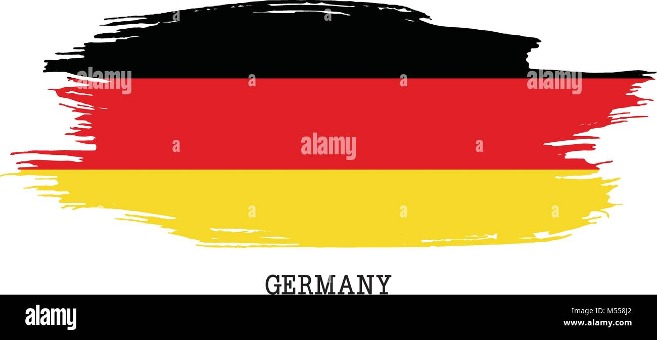 Germany flag vector grunge paint stroke   - Stock Image