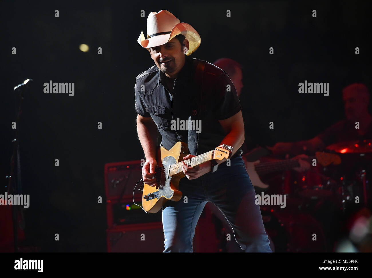 Musician BRAD PAISLEY performs at the San Antonnio Stock Show and Rodeo. 19th Feb, 2018. Credit: Robin Jerstad/ZUMA - Stock Image