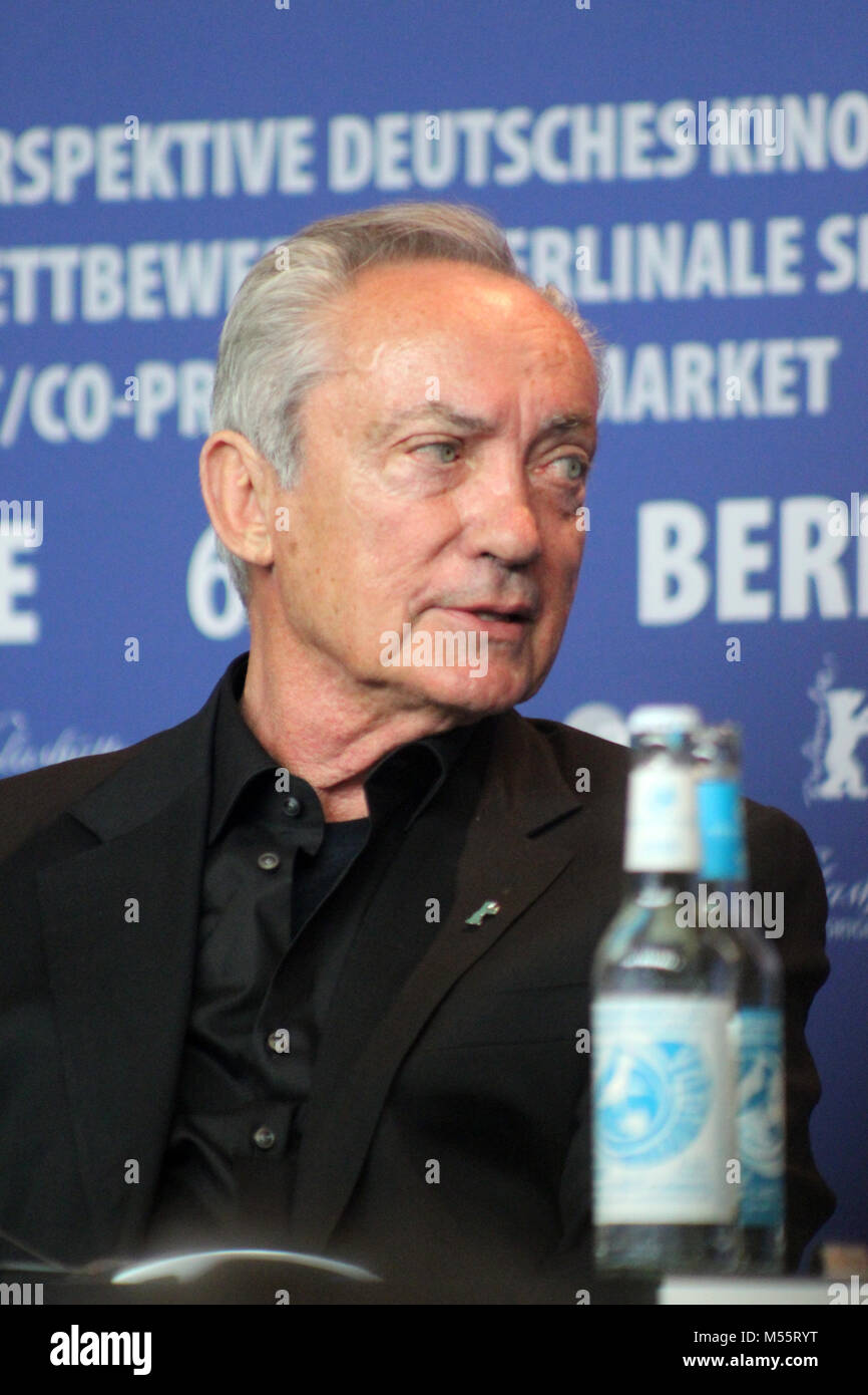 """Berlin, Germany. 20th February, 2018. Press conference at the Grand Hyatt Hotel in Berlin/Germany for """" Dont Worry, Stock Photo"""