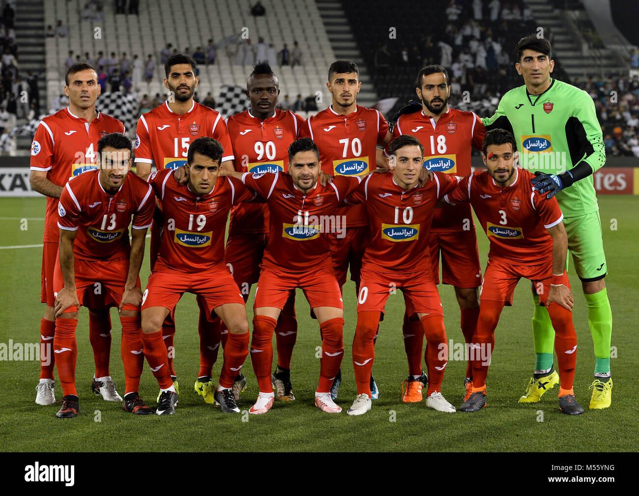 Doha 21st Feb 2018 Iran S Persepolis Players Pose For A Team Photo Stock Photo Alamy