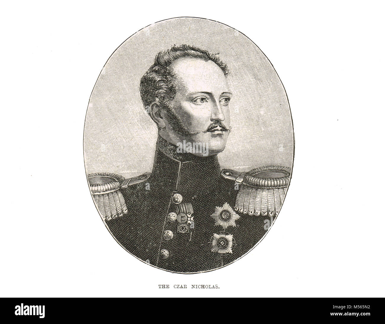 Czar Nicholas I of Russia, 1796-1855,  Emperor of Russia, reigned 1825-1855, King of Poland and Grand Duke of Finland - Stock Image
