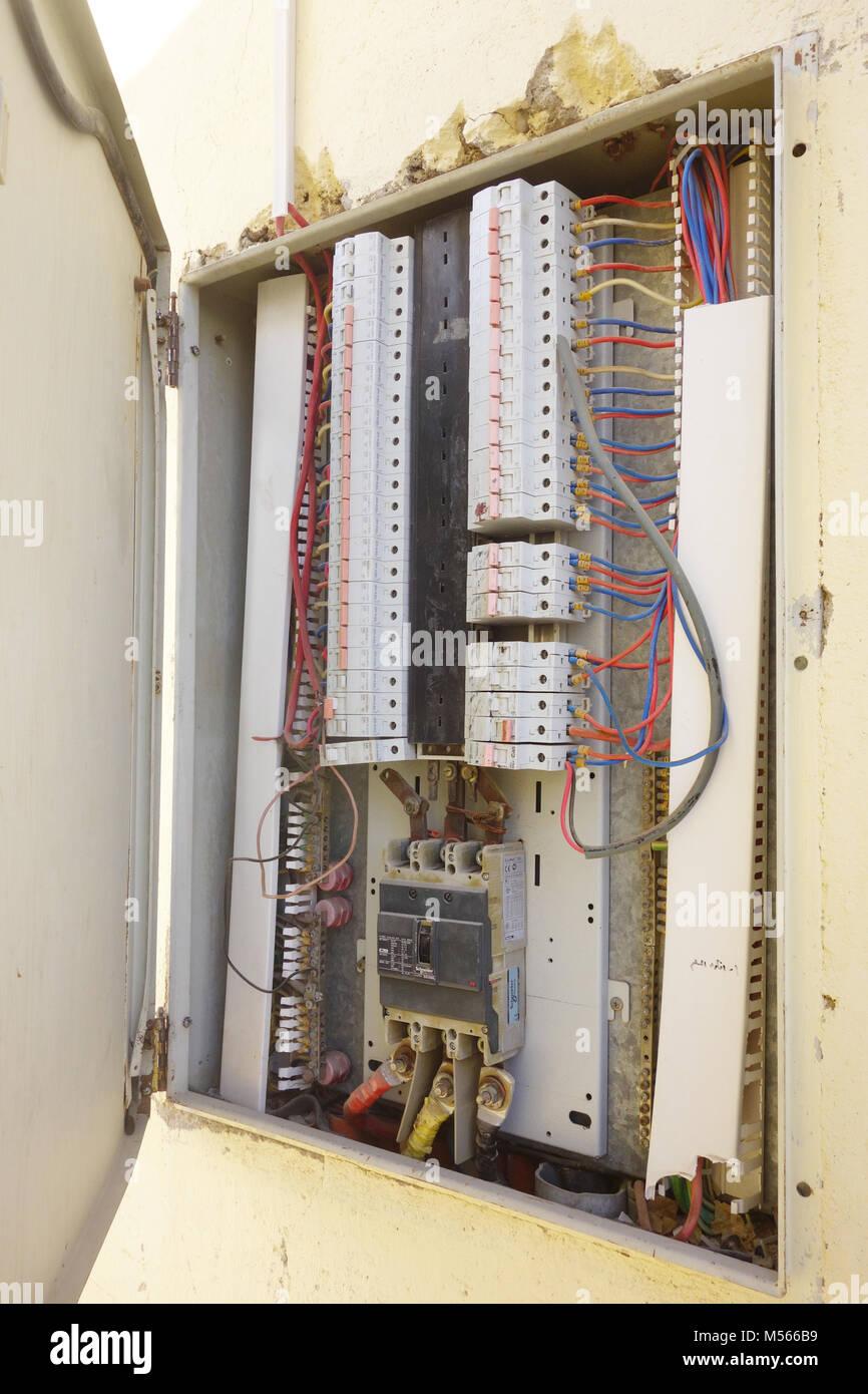 Electric Wire Circuit Box Stock Photos & Electric Wire Circuit Box on circuit breaker box, circuit board wiring, circuit breaker wiring diagram,