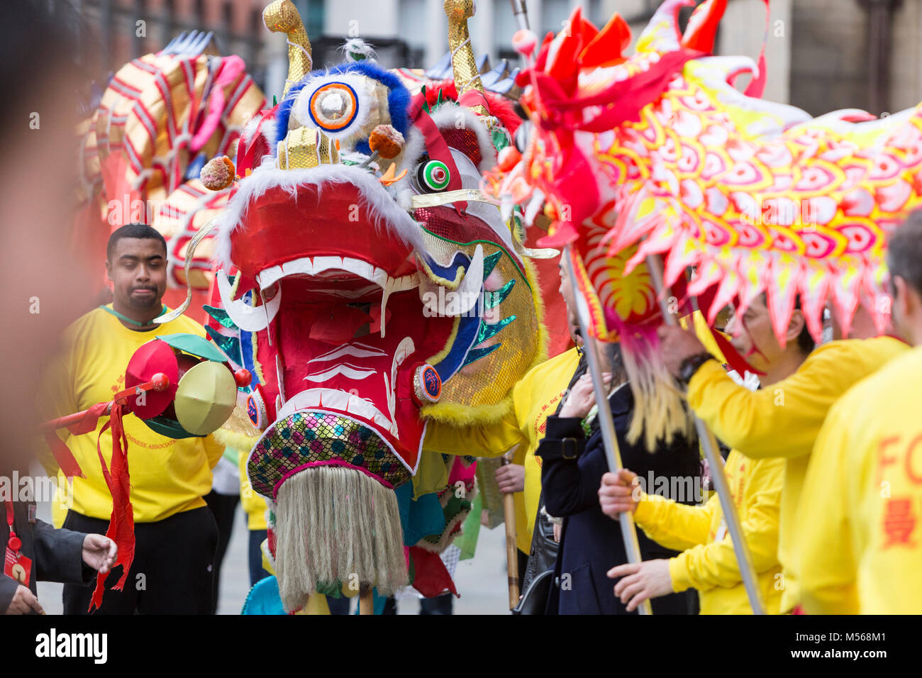 Chinese New Year 2018 celebrations in Manchester - The Year of the Dog. - Stock Image