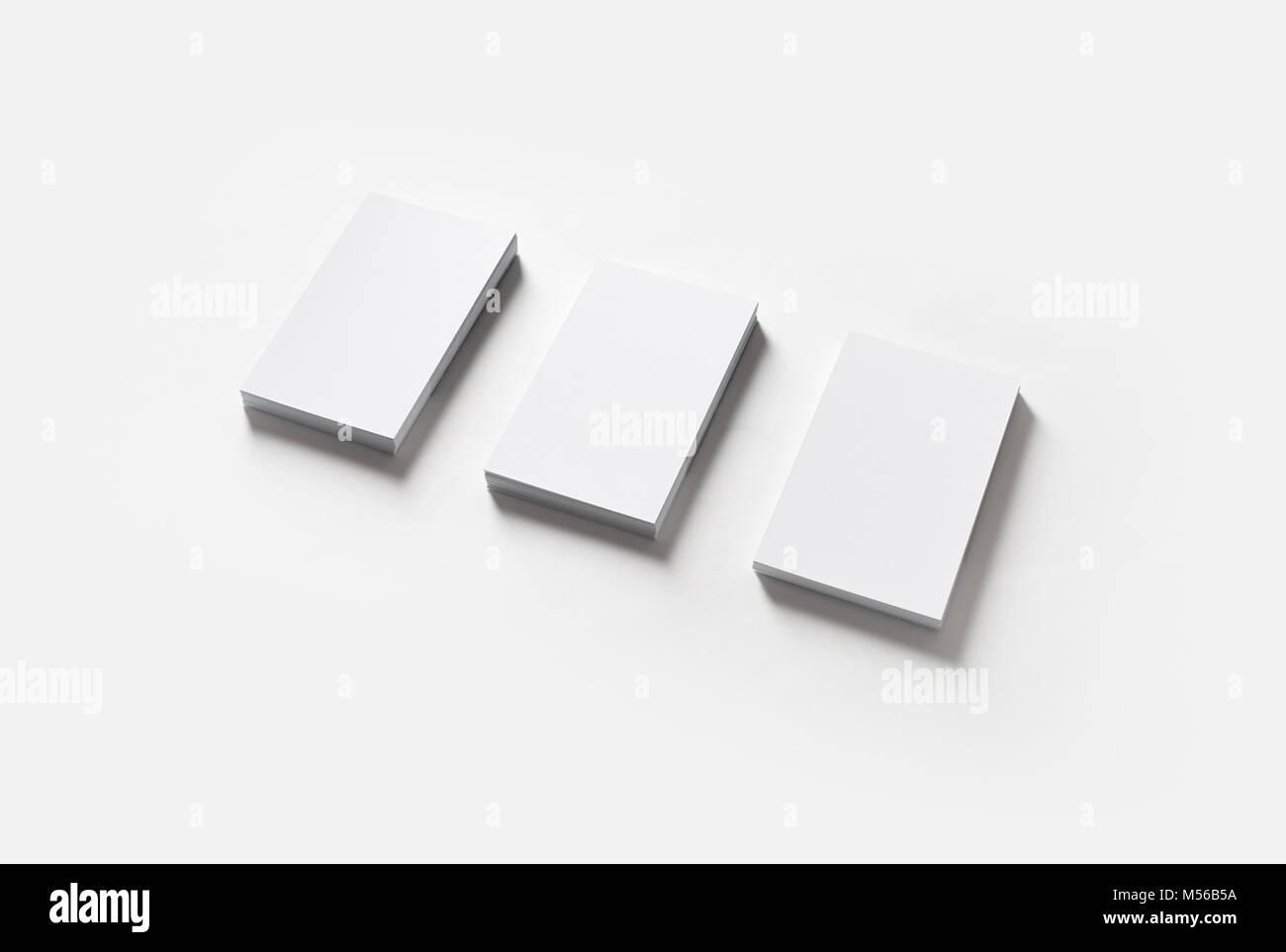 Three blank business cards Stock Photo: 175317446 - Alamy