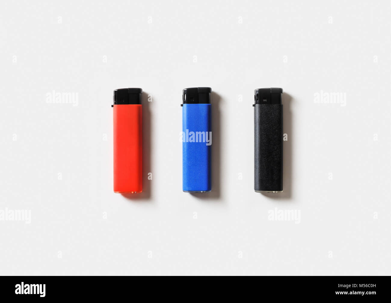 Plastic gas lighters - Stock Image